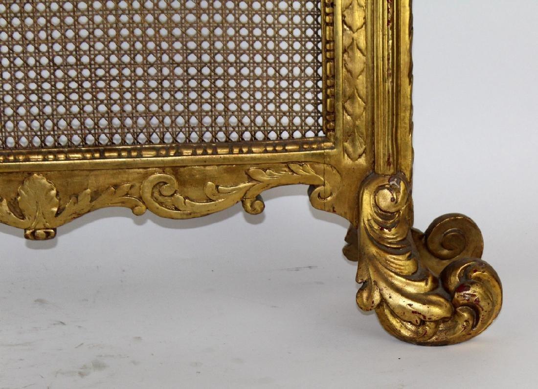 Louis XVI style caned firescreen - 4