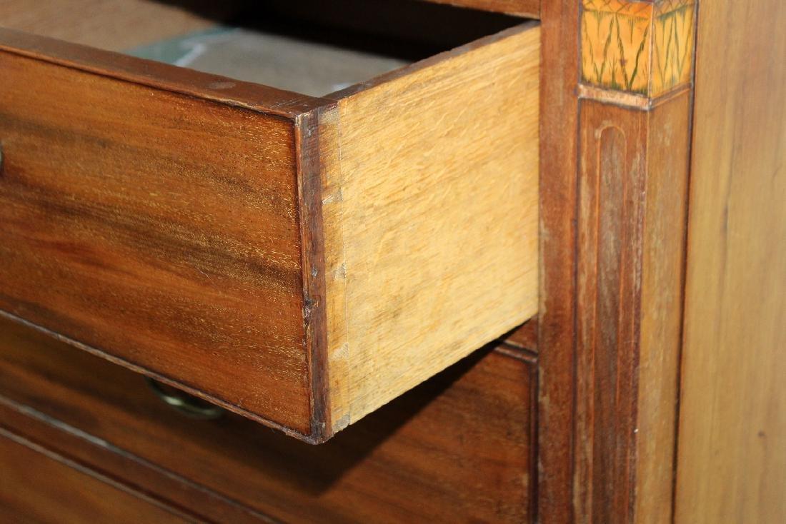 English 2 over 3 mahogany chest - 2