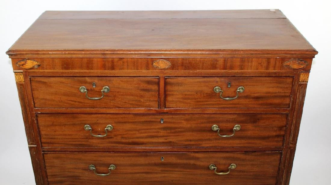 English 2 over 3 mahogany chest - 3