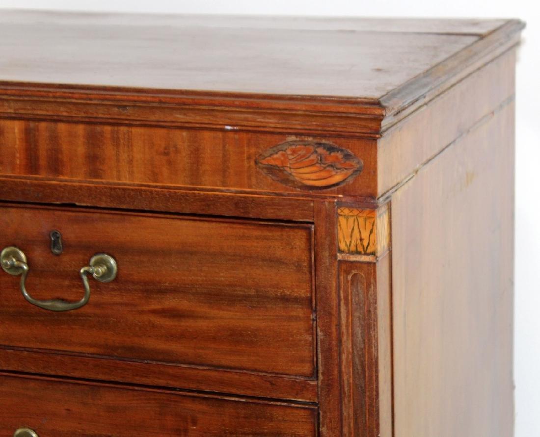 English 2 over 3 mahogany chest - 4