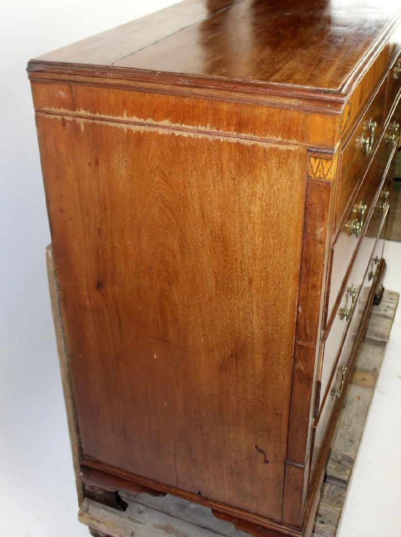 English 2 over 3 mahogany chest - 6