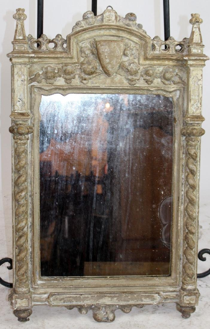 Italian carved and painted mirror - 4