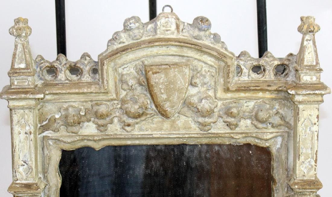 Italian carved and painted mirror - 5