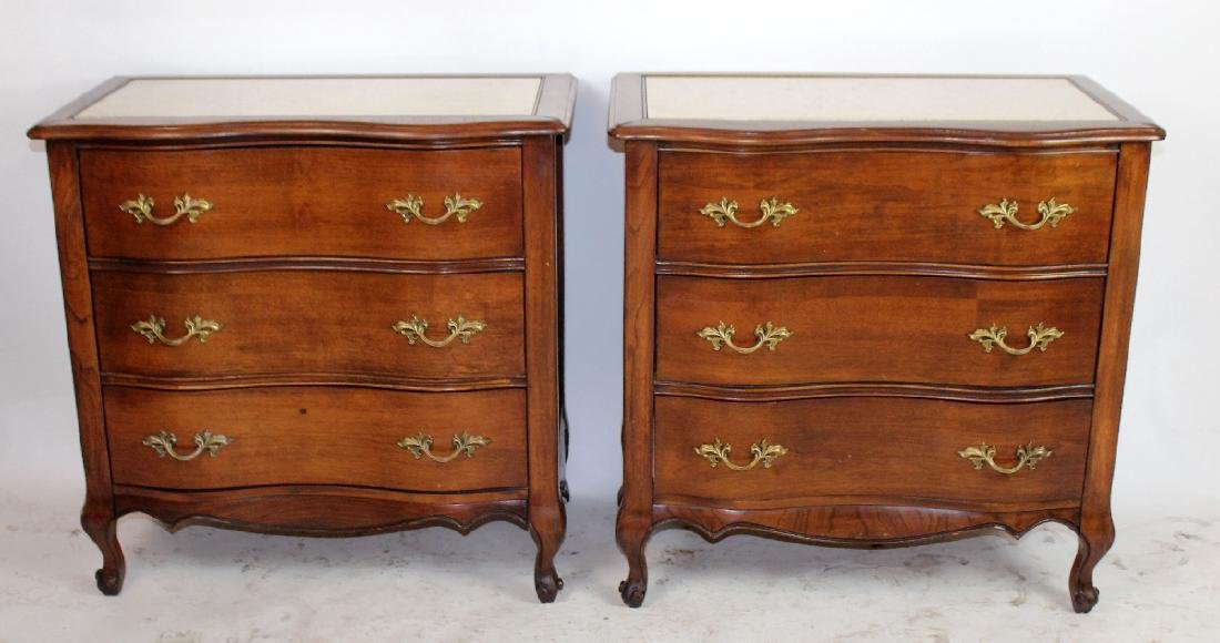 Pair of French Provincial nightstands