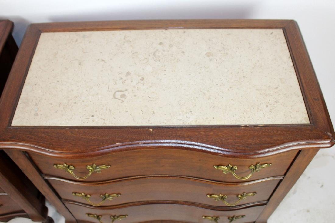 Pair of French Provincial nightstands - 4