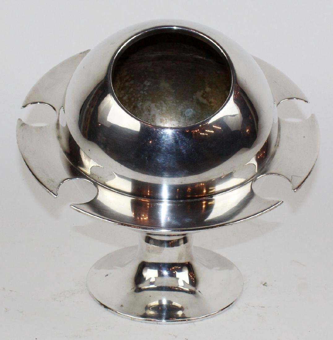 French silverplate champagne cololer.