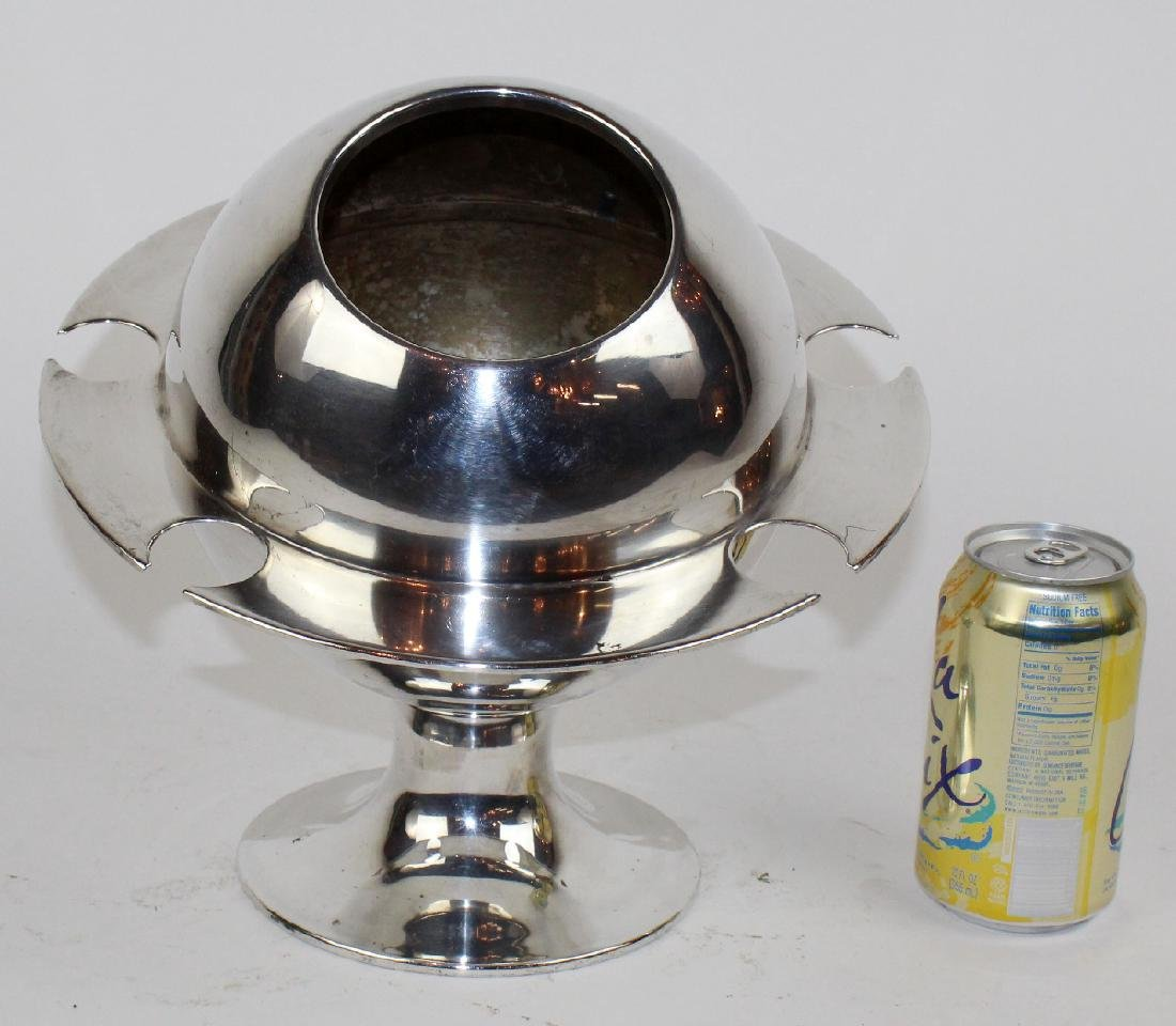 French silverplate champagne cololer. - 4