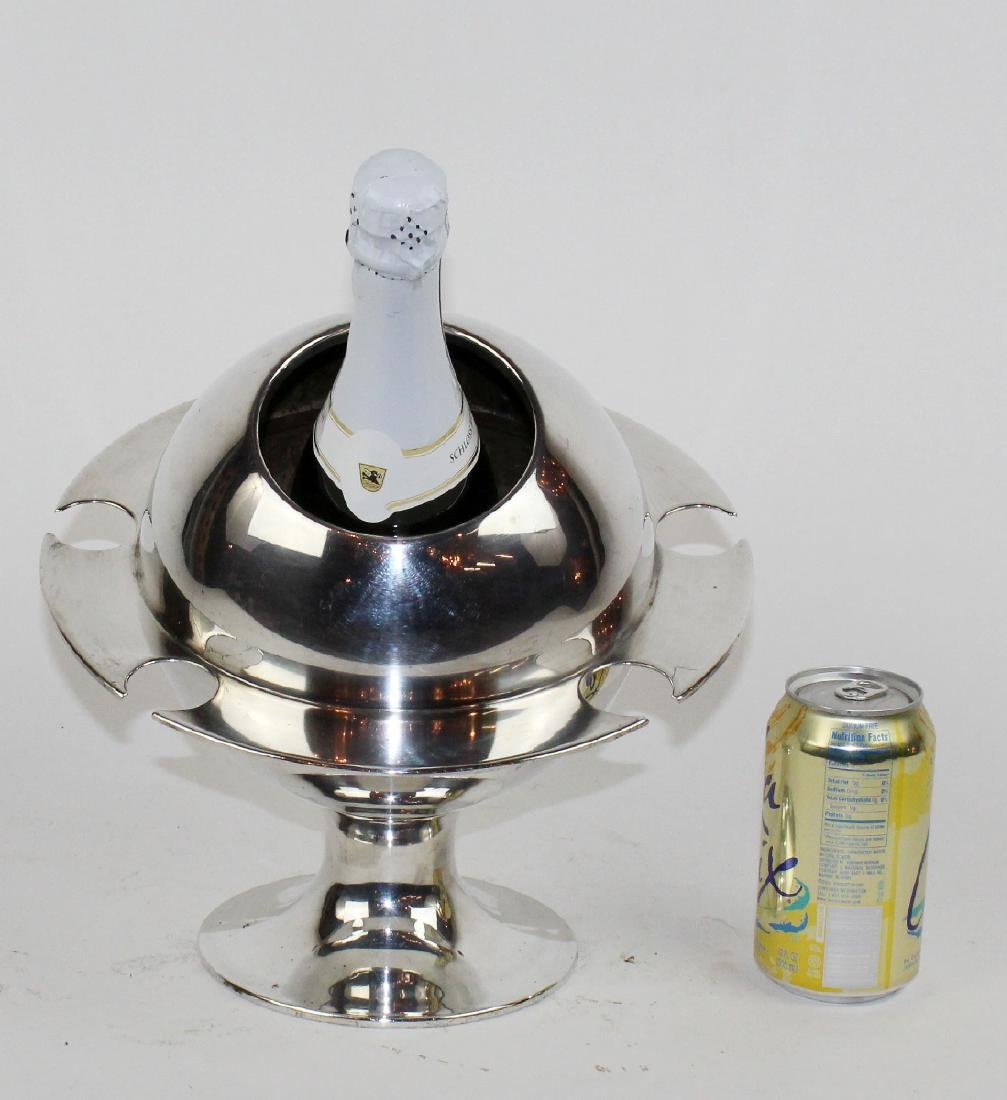 French silverplate champagne cololer. - 5