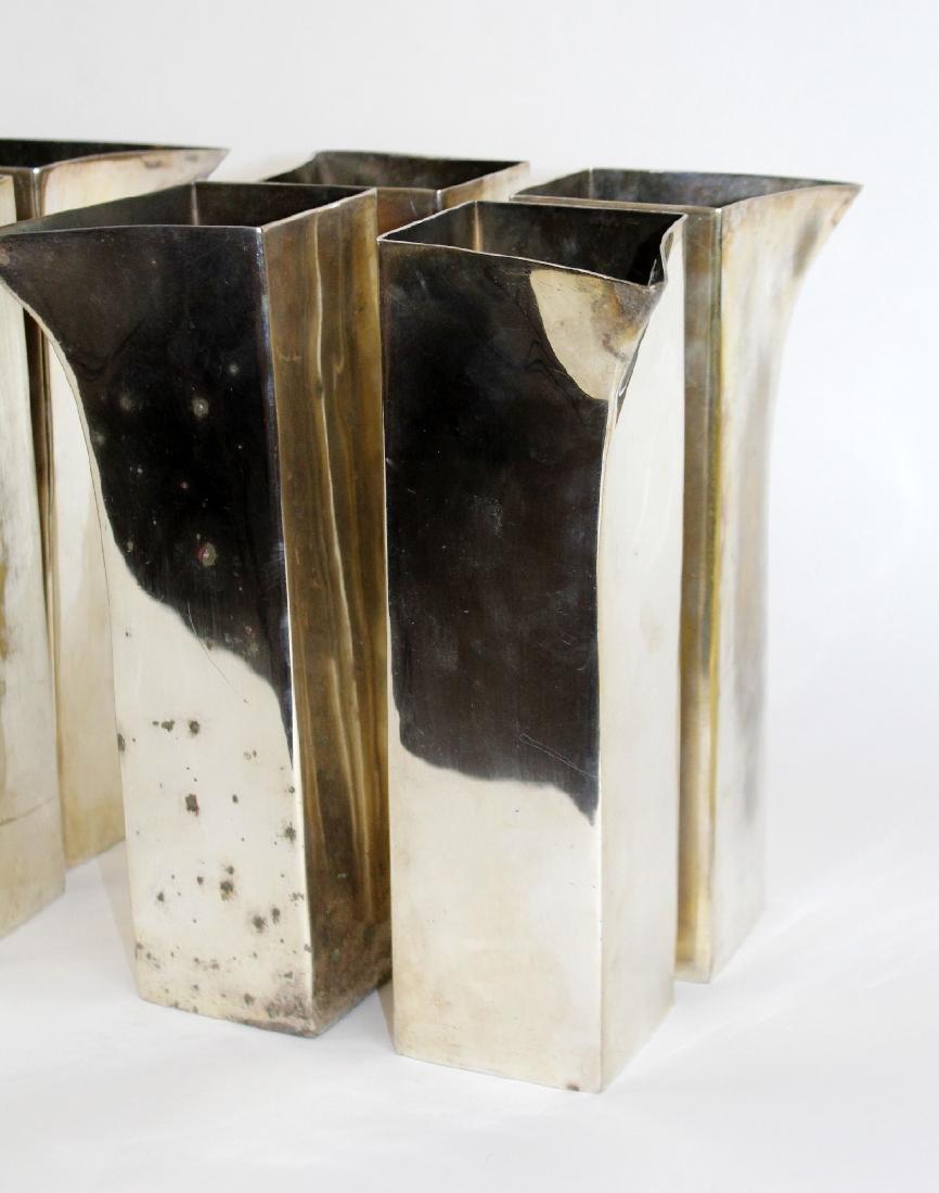 Lot of 8 nickel over bronze vases - 3