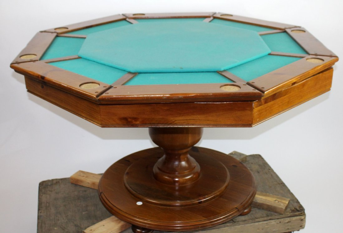 Vintage octagonal top bumper pool table