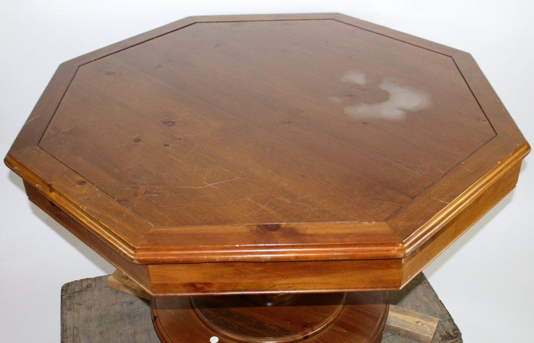 Vintage octagonal top bumper pool table - 4