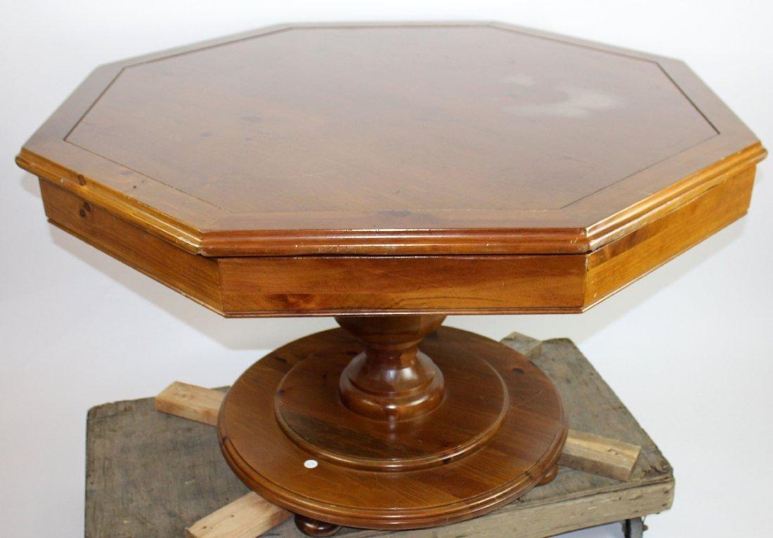 Vintage octagonal top bumper pool table - 5