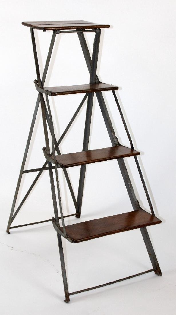 French folding library ladder