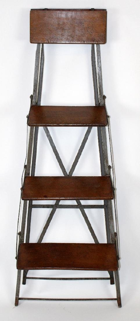French folding library ladder - 2