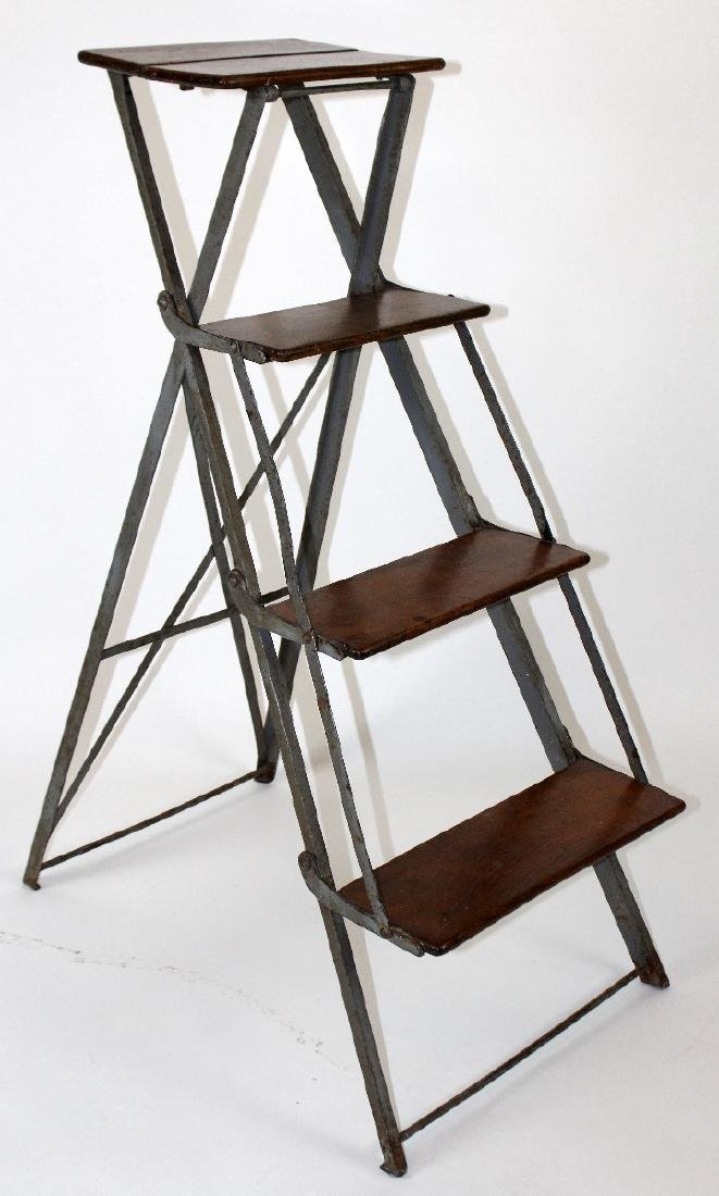 French folding library ladder - 3