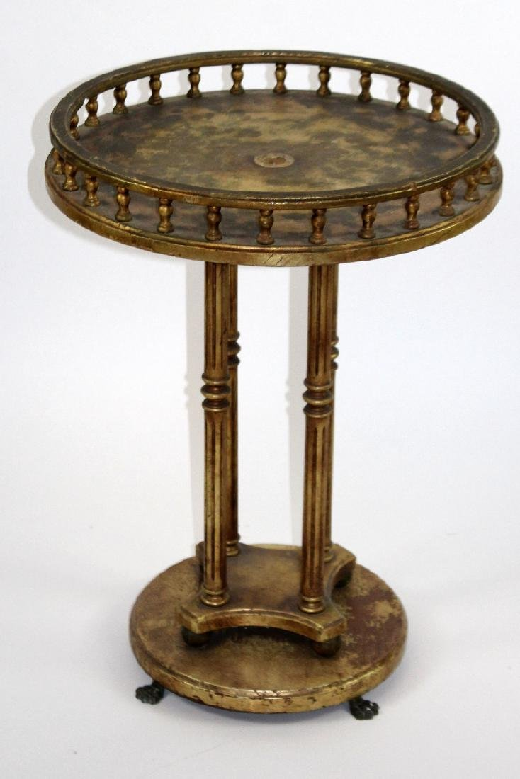 Round LXVI style painted gold table