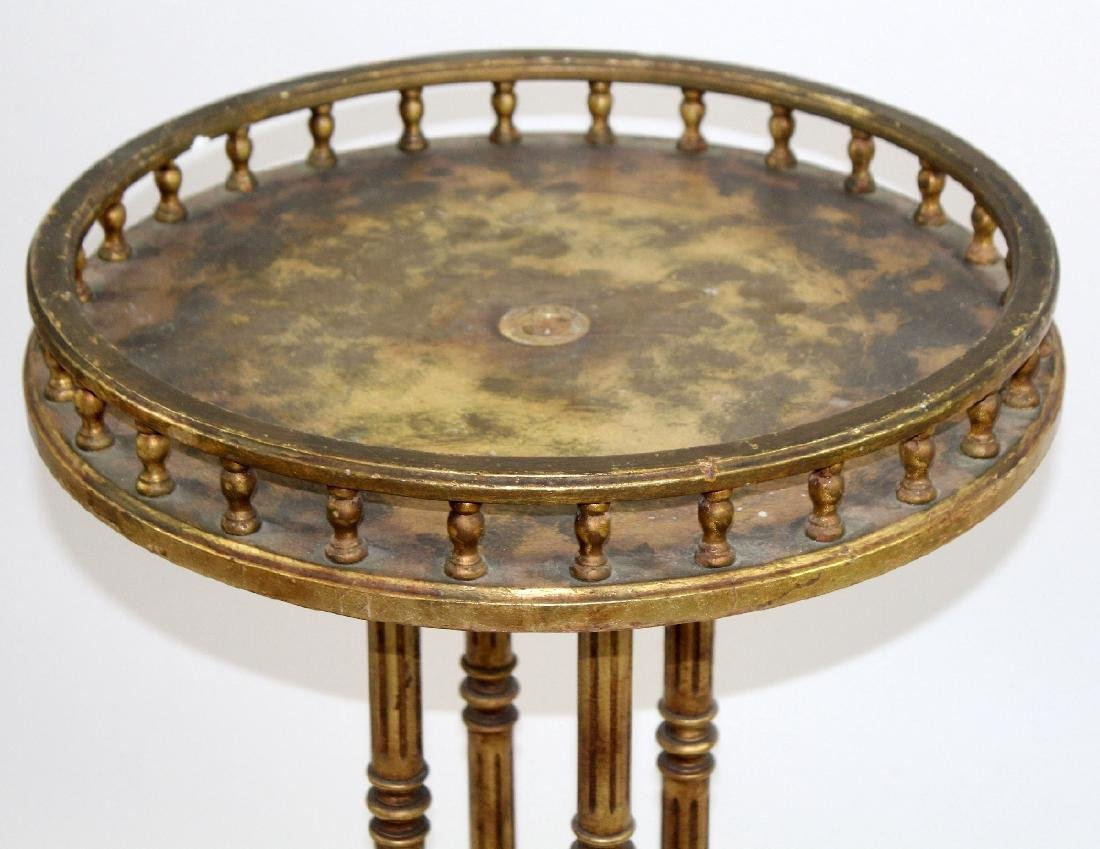 Round LXVI style painted gold table - 2