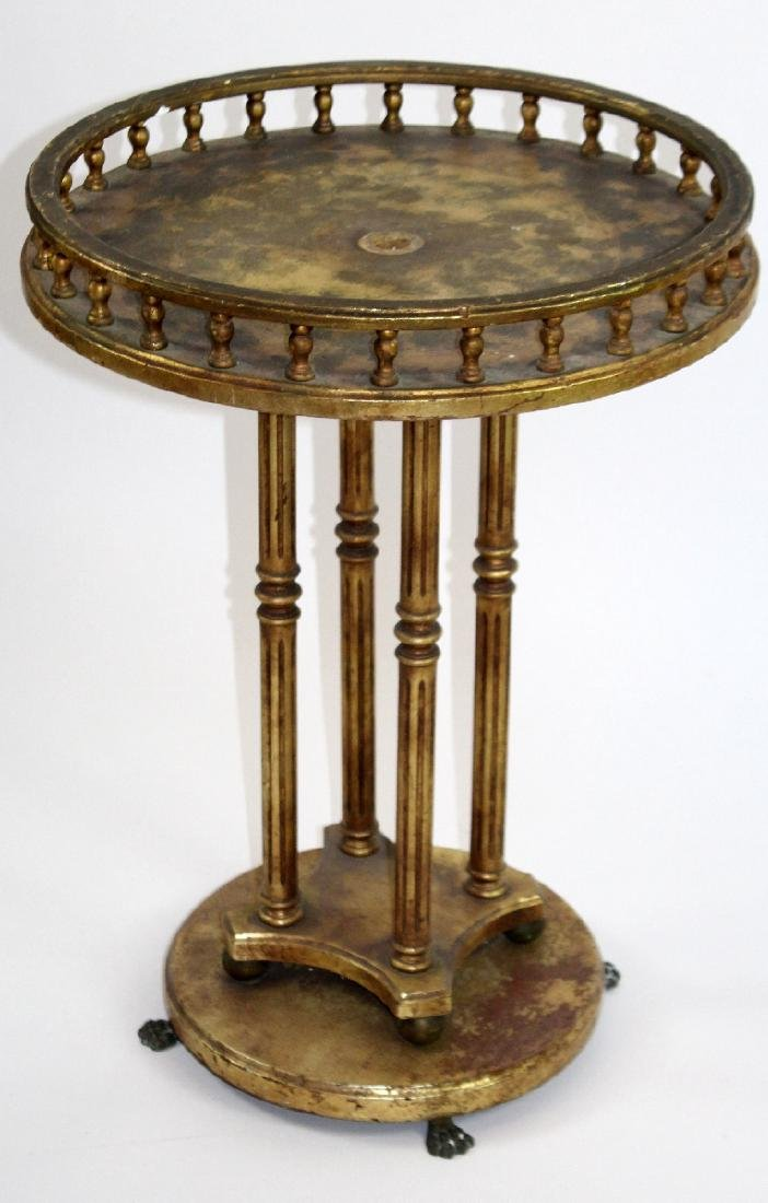 Round LXVI style painted gold table - 3