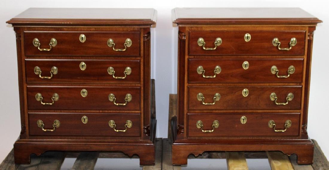 Pair of mahogany nightstands