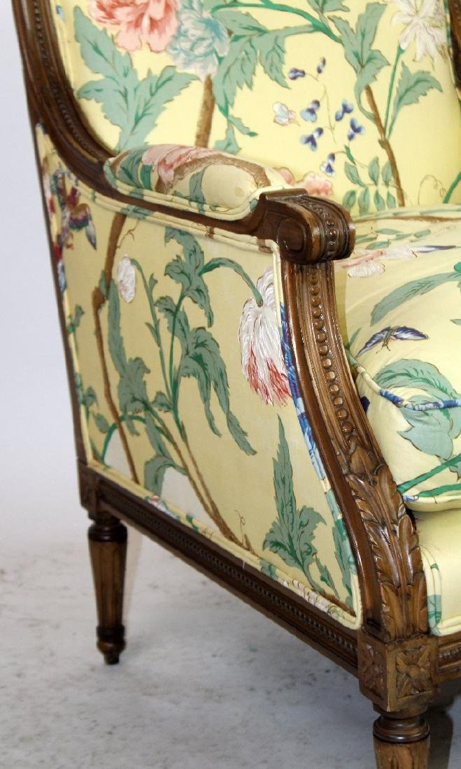 Pair of Louis XVI style bergeres - 2