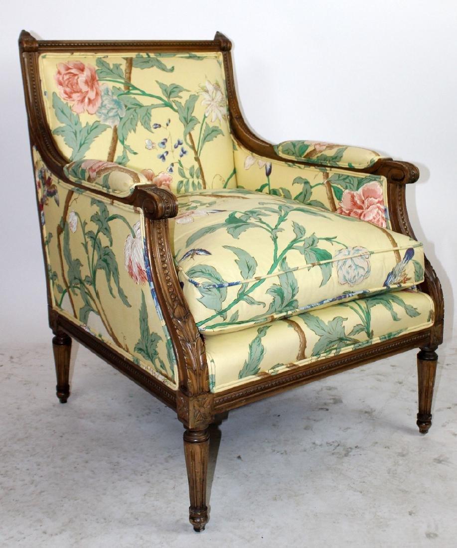 Pair of Louis XVI style bergeres - 5