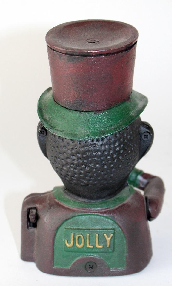 """Painted cast iron """"Jolly Negro"""" bank - 4"""