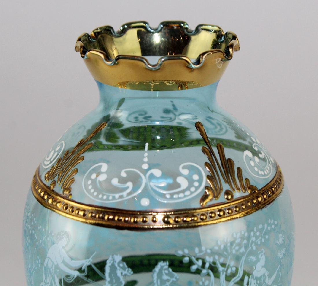 Bohemian painted glass vase - 2