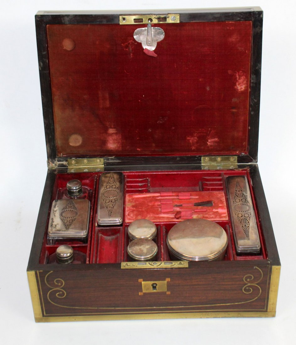 Thompson English rosewood vanity box
