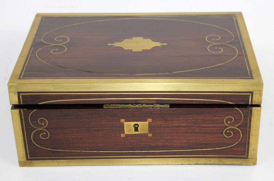Thompson English rosewood vanity box - 2