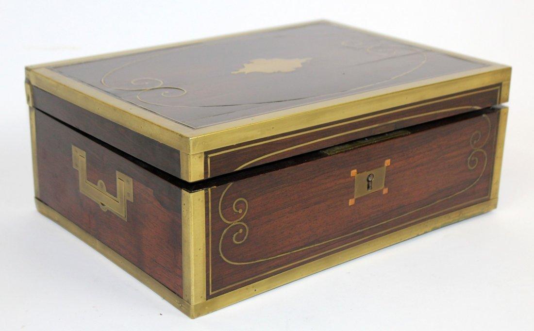 Thompson English rosewood vanity box - 4
