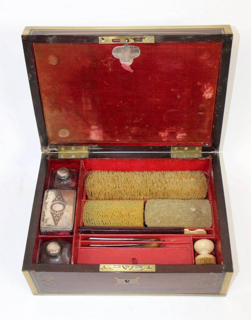 Thompson English rosewood vanity box - 7