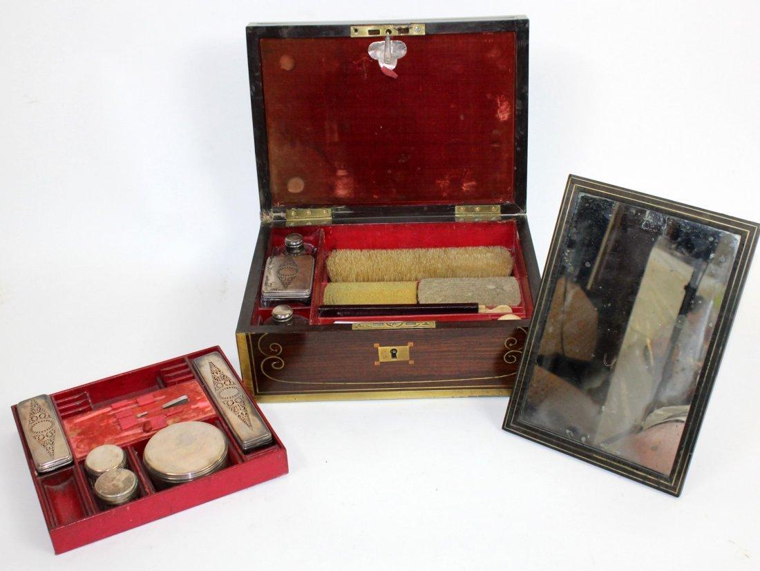 Thompson English rosewood vanity box - 8