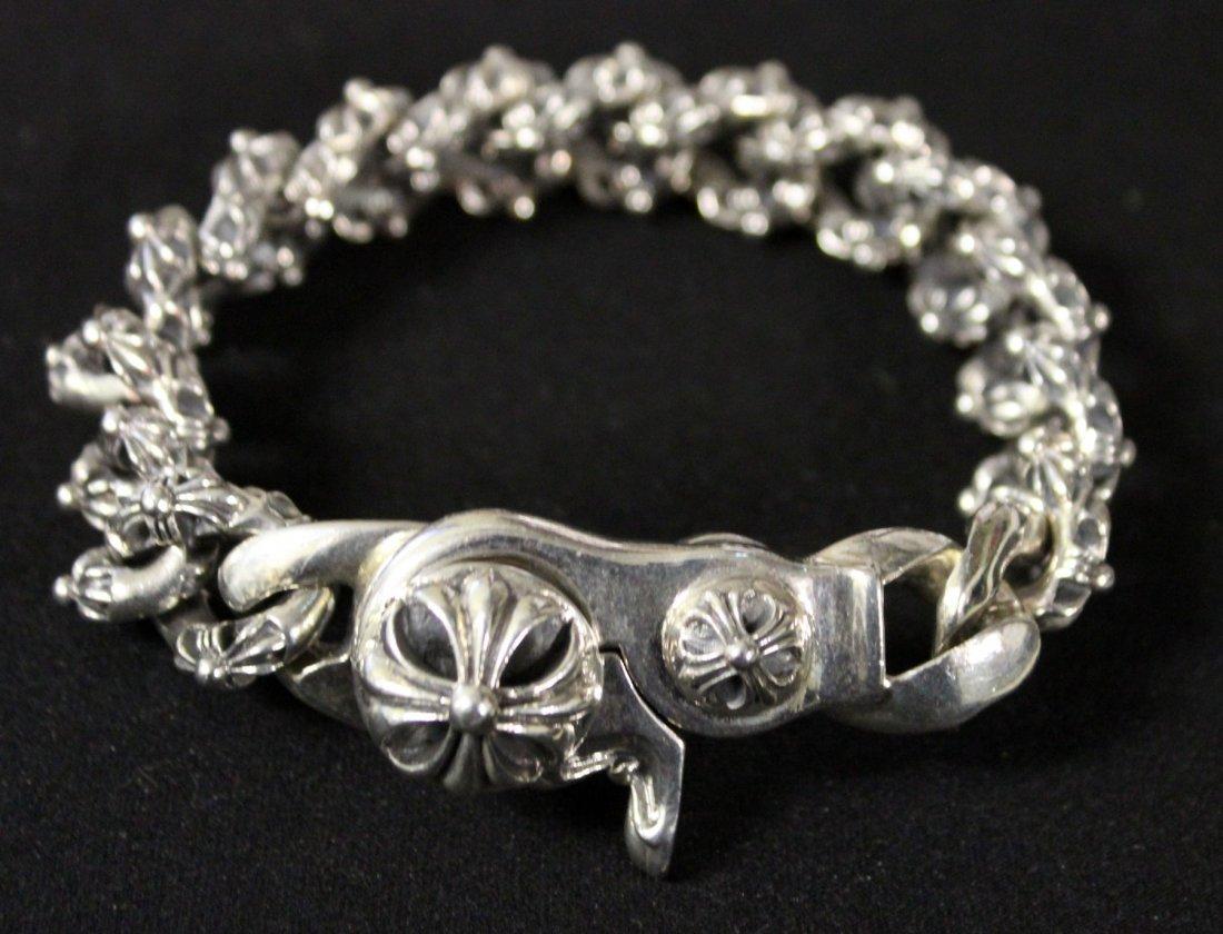 Chrome Hearts men's sterling silver bracelet