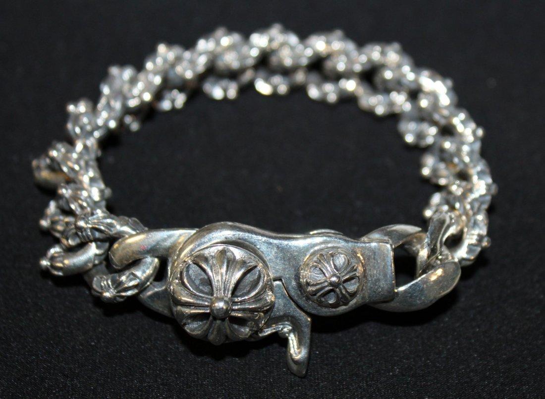 Chrome Hearts men's sterling silver bracelet - 2