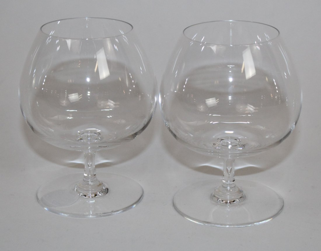 Pair of Baccarat crystal brandy snifters