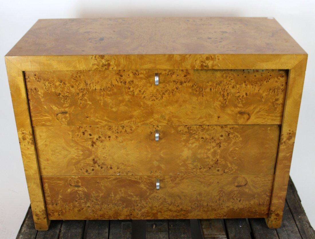 3 drawer birds eye maple chest
