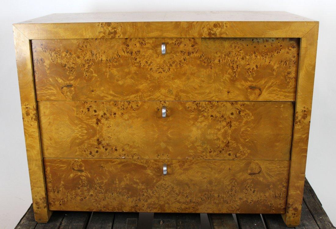 3 drawer birds eye maple chest - 2