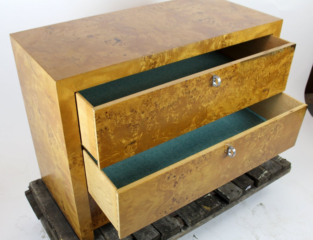 3 drawer birds eye maple chest - 3