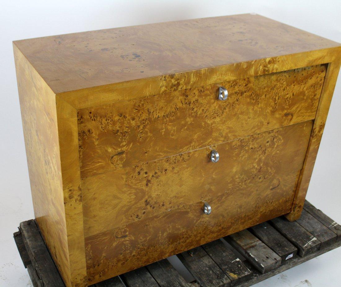 3 drawer birds eye maple chest - 4