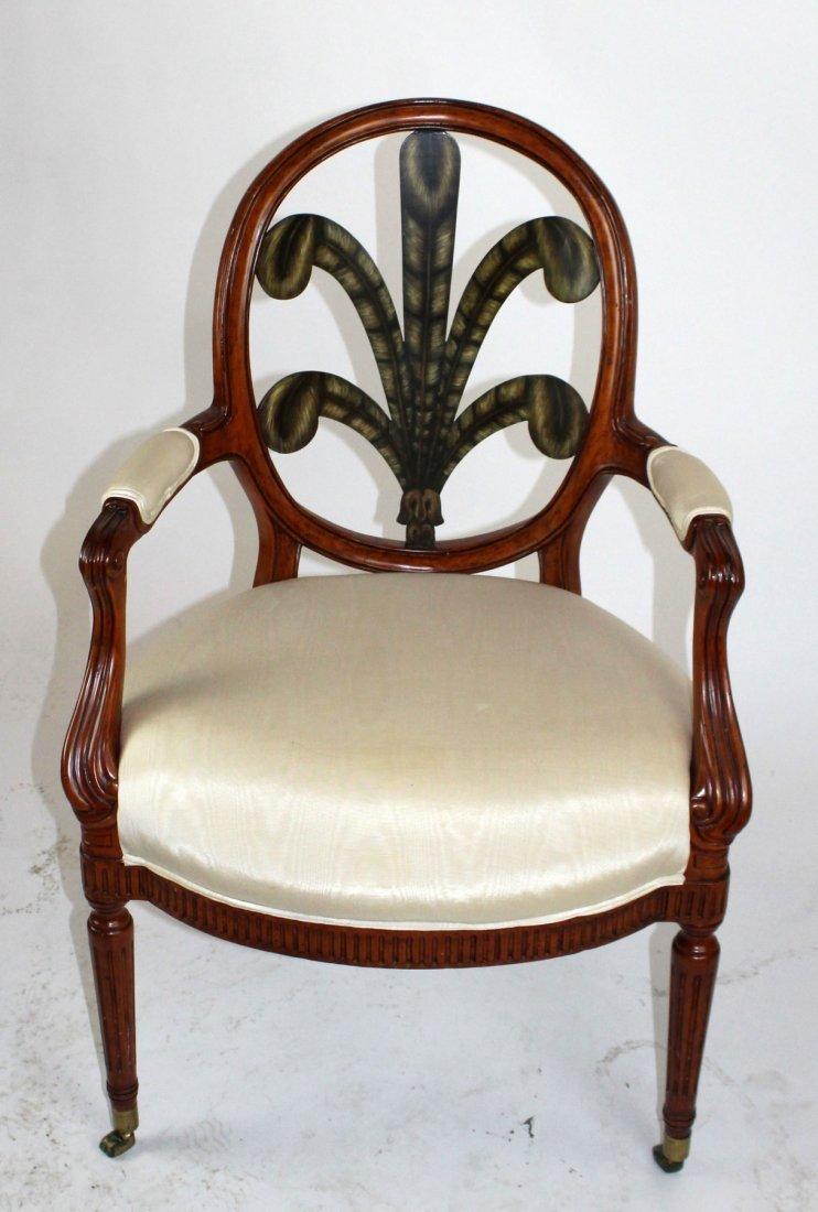 Foliate back armchair