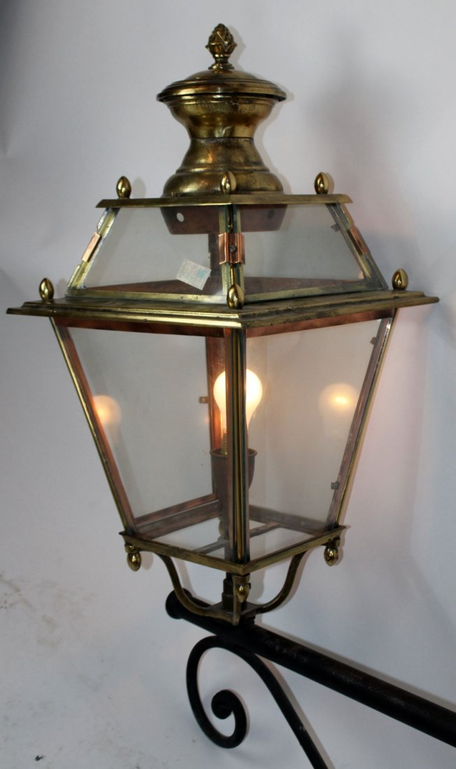 French brass and copper lantern - 2