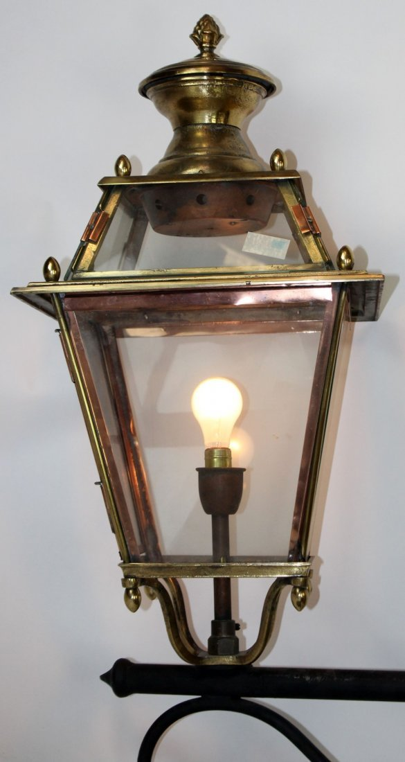French brass and copper lantern - 3