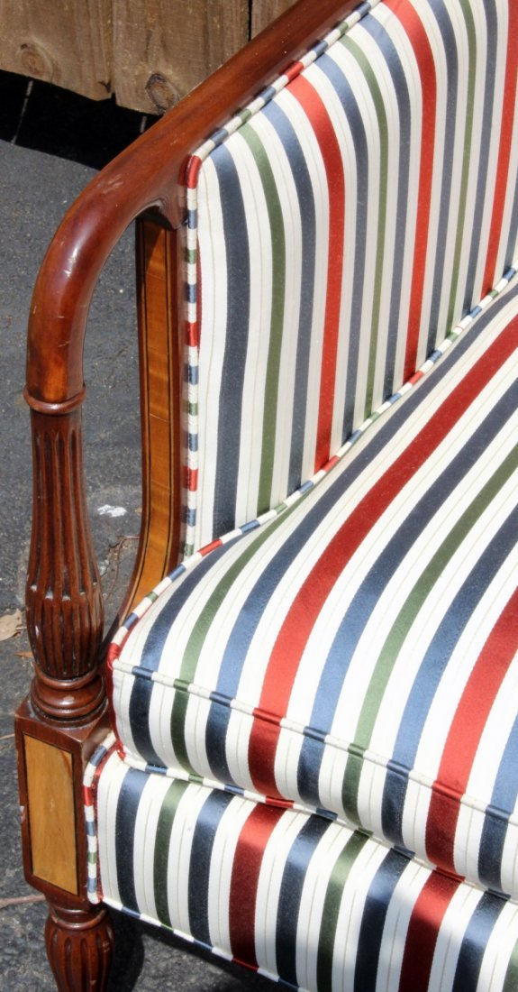 American mahogany settee with fluted legs - 3