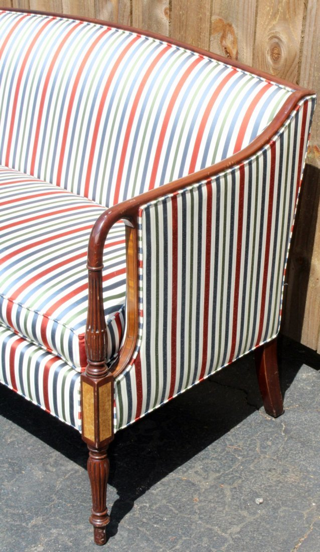 American mahogany settee with fluted legs - 6
