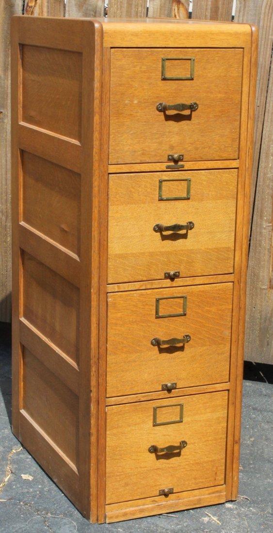 Remington Rand Library Bureau oak file cabinet