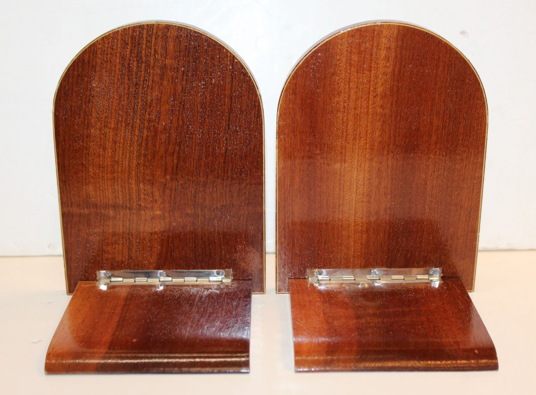 Pair of Italian marquetry bookends - 2