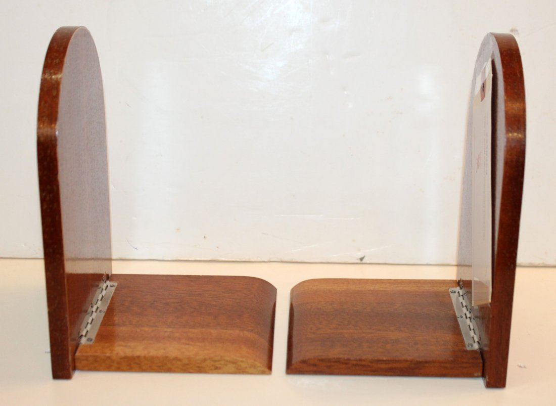 Pair of Italian marquetry bookends - 3