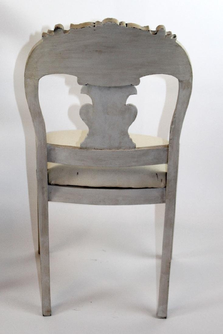 Pair of painted splat back side chairs - 2