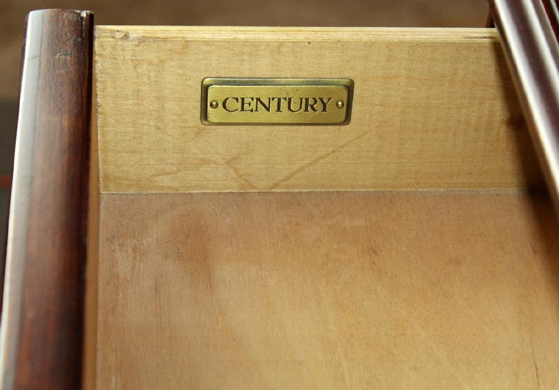 Century mahogany 3 drawer console - 2