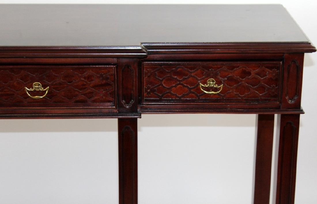 Century mahogany 3 drawer console - 3